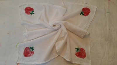 Nifty Gifties: Stamped Dish Towels