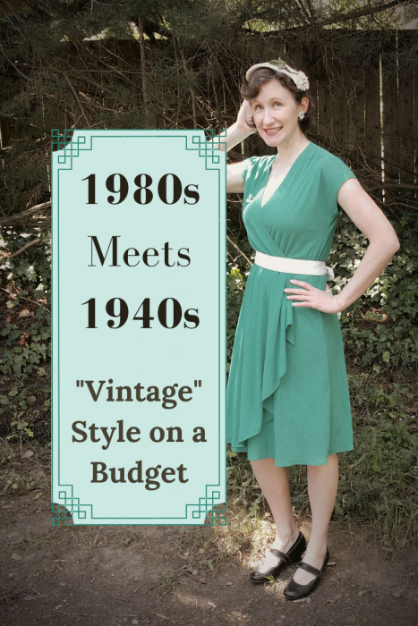 "1980's Meets 1940's: ""Vintage"" Style on a Budget"