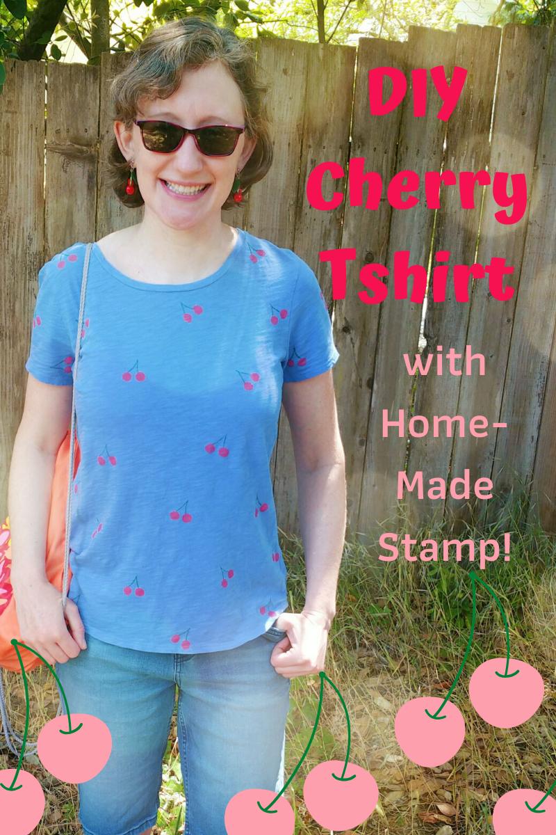 DIY Cherry Tshirt (with Homemade Stamp!)