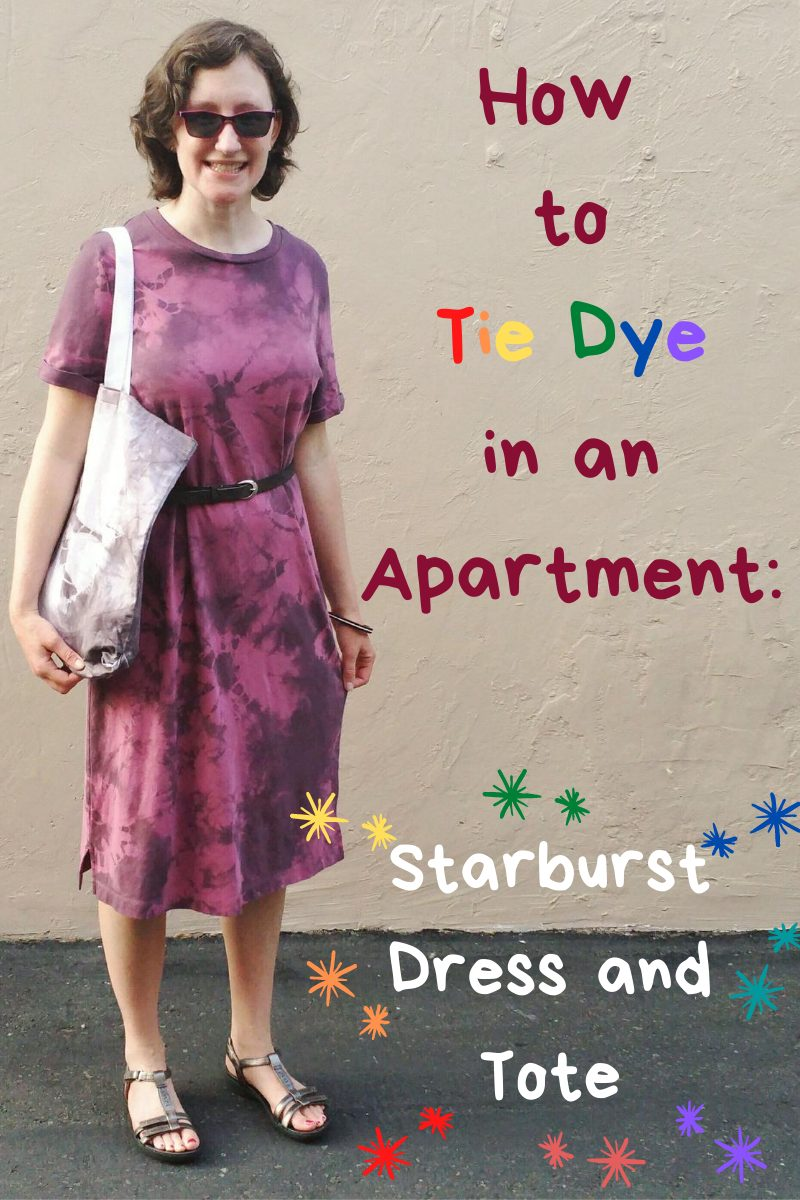 How to Tie Dye in an Apartment: Starburst Dress and Tote