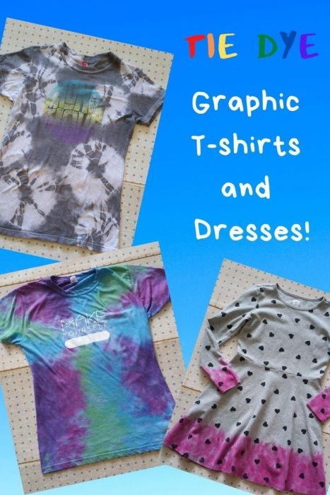 Tie Dyed Graphic T's (and Dress!)