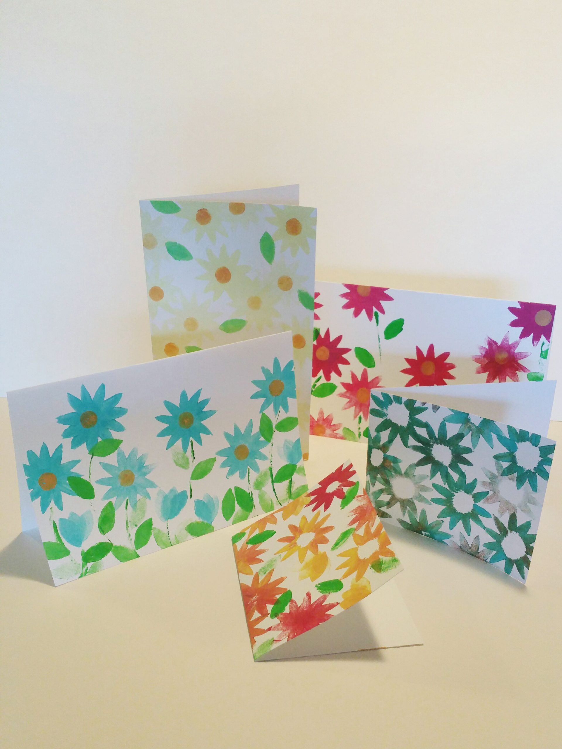 DIY Flower Stamp Cards