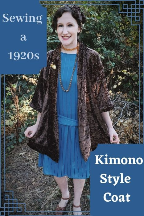 Costume or Clothing? Sewing a 1920s Kimono-Style Coat