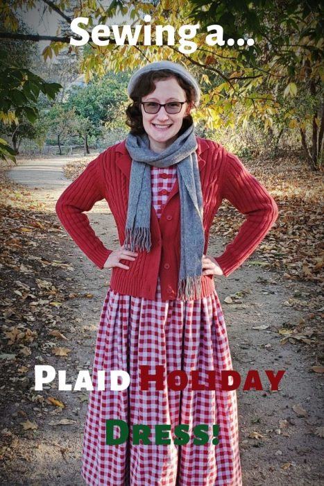 Sewing a Plaid Holiday Dress!