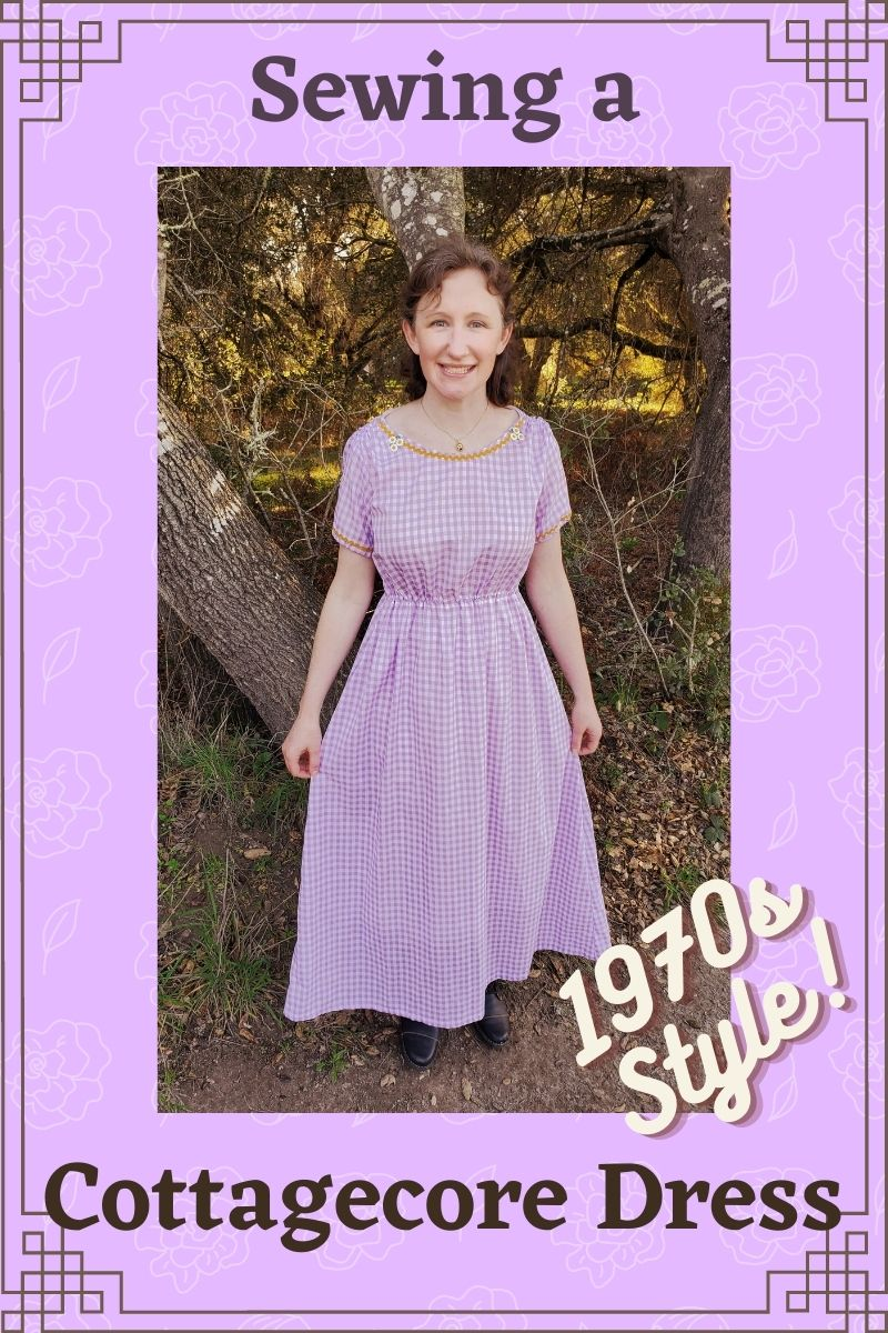 Sewing a Cottagecore Dress: 1970s Style!