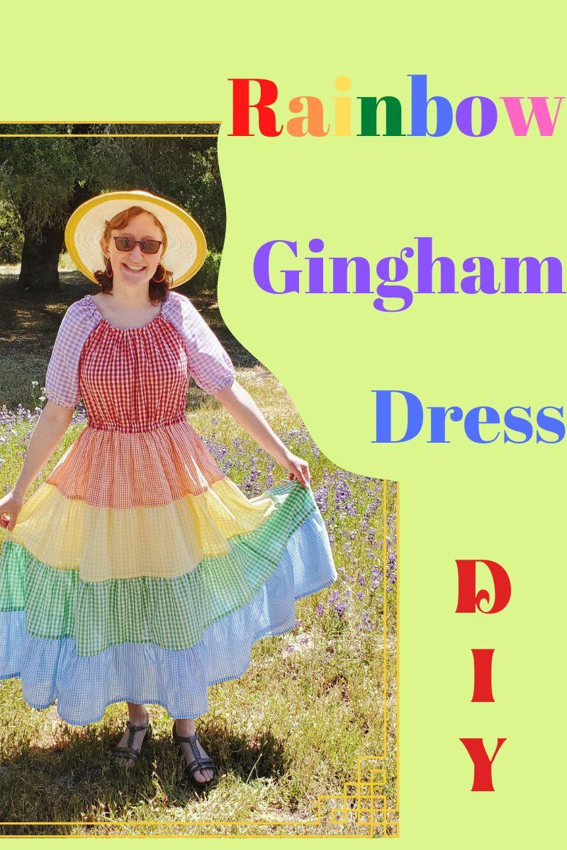 Rainbow Gingham Dress DIY